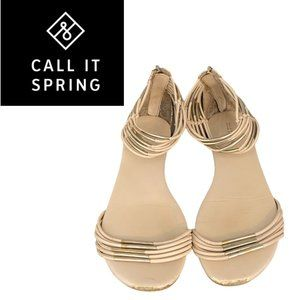 Call It Spring Gladiator Flats - Size 7